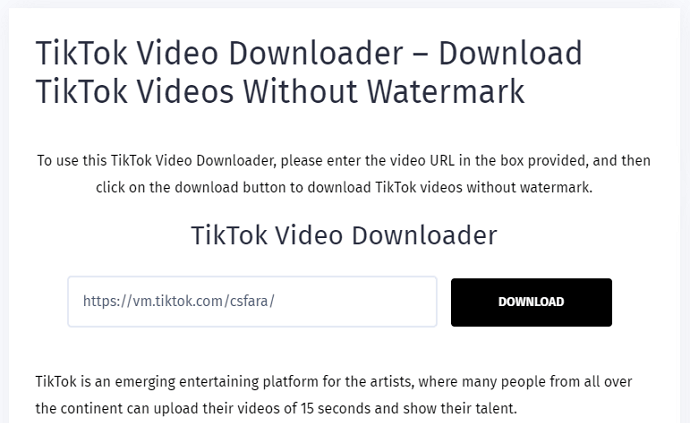 tiktok video downloader